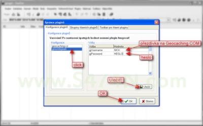 Úvodní nastavení - konfigurace pro GeoJarry